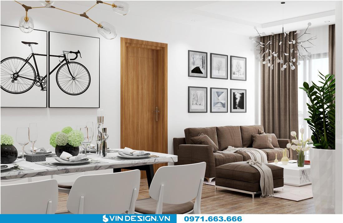 thiết kế nội thất chung cư Gardenia Cầu Diễn 02