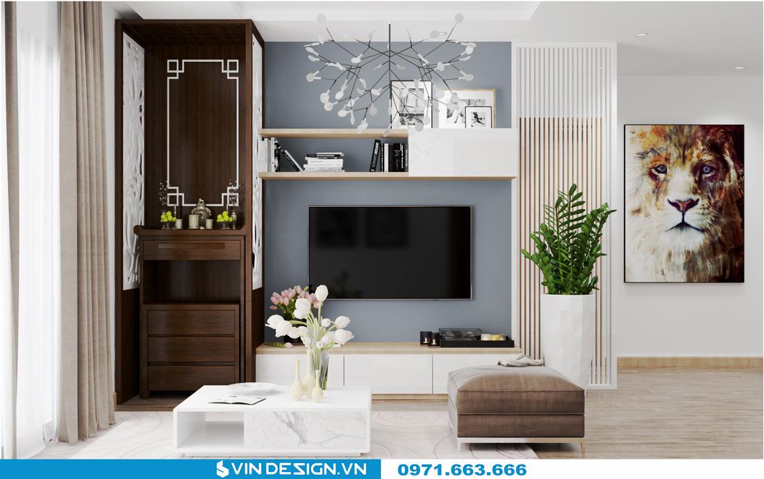 thiết kế nội thất chung cư Gardenia Cầu Diễn 03