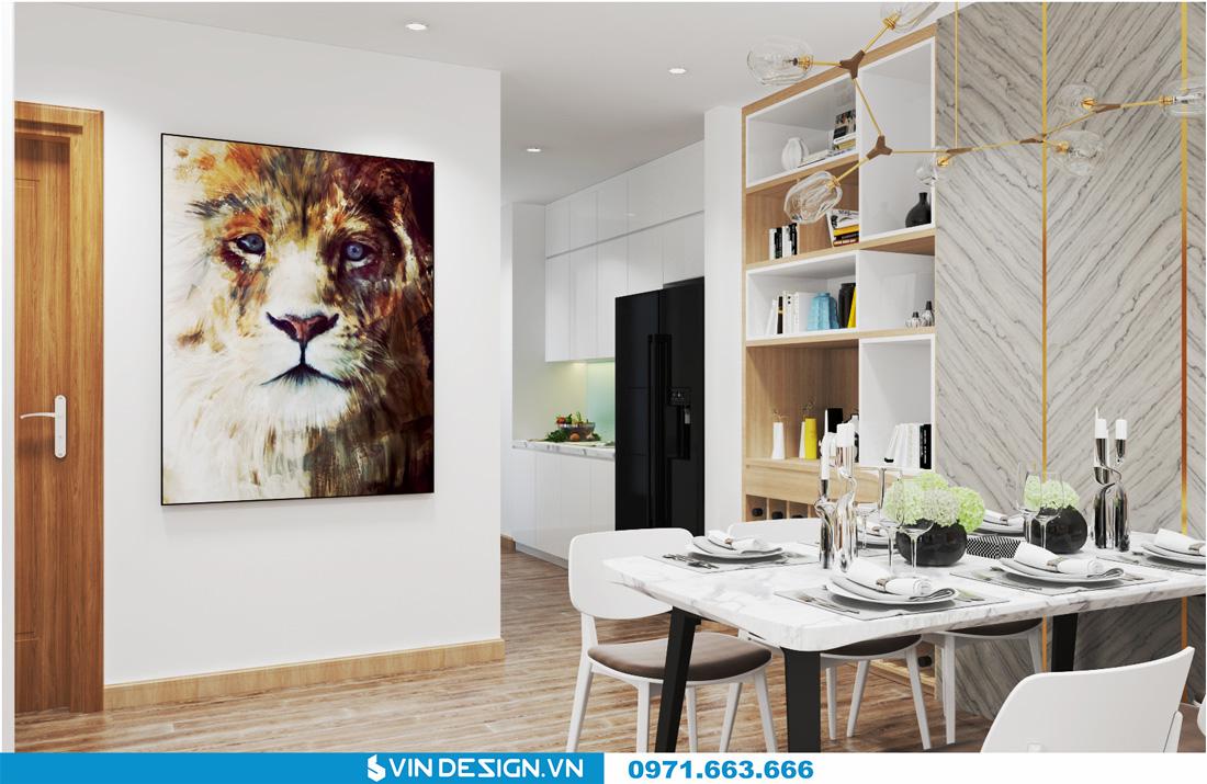 thiết kế nội thất chung cư Gardenia Cầu Diễn 04