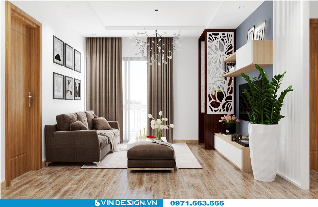 thiết kế nội thất chung cư Gardenia Cầu Diễn 05