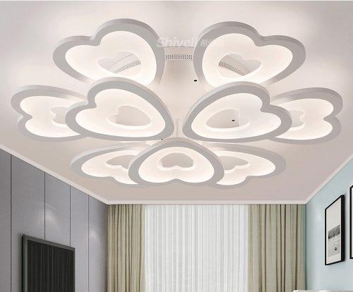 đèn trang trí phòng khách đẹp tinh tế hiện đại