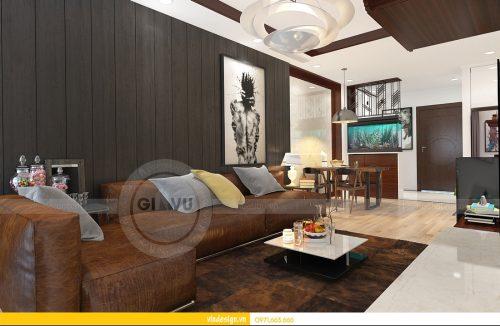 Mẫu Thiết kế nội thất căn hộ Gardenia nhà chị linh, sang trọng