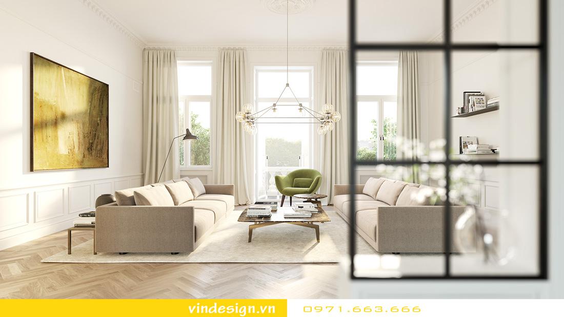 Thiết kế nội thất chung cư sky lake 01