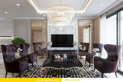 Thiết kế nội thất chung cư Sky Lake theo phong cách tân cổ điển