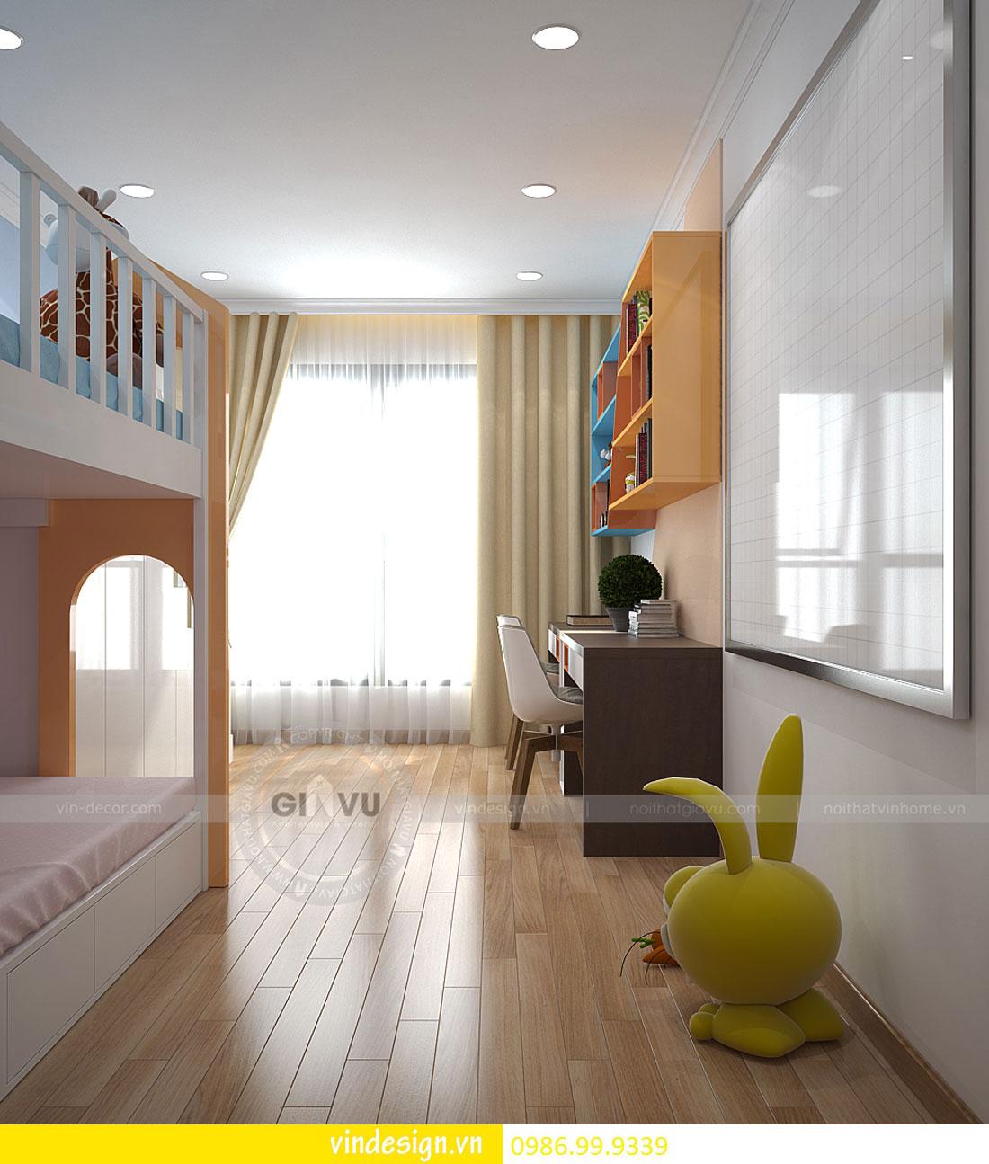 Mẫu thiết kế nội thất Gardenia căn 3 phòng ngủ hiện đại
