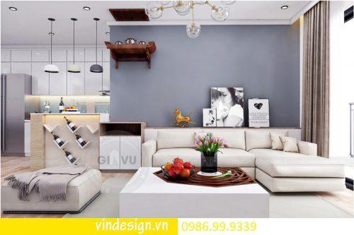 Mẫu thiết kế nội thất D Capitale căn 1 phòng ngủ hiện đại