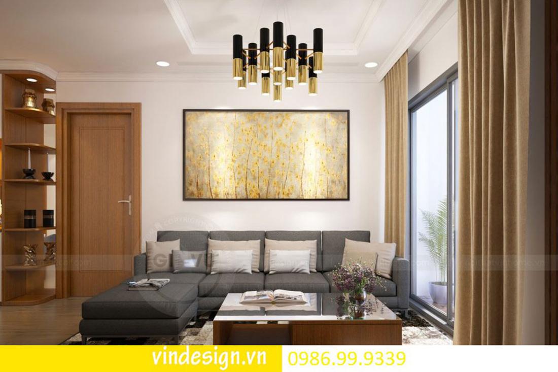 mẫu thiết kế nội thất D Capitale căn 2 phòng ngủ 01