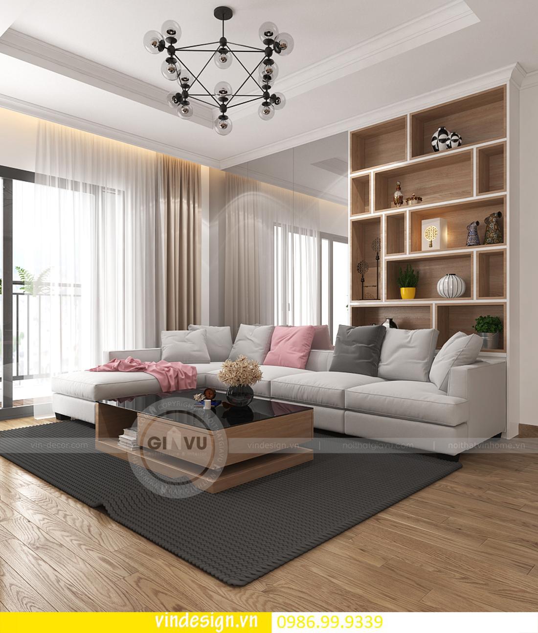 mẫu thiết kế nội thất D Capitale căn 3 phòng ngủ 01