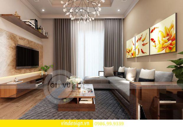 Mẫu thiết kế nội thất Gardenia căn 1 phòng ngủ hiện đại