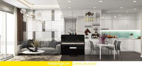 Mẫu thiết kế nội thất Gardenia căn 2 phòng ngủ đẹp hiện đại