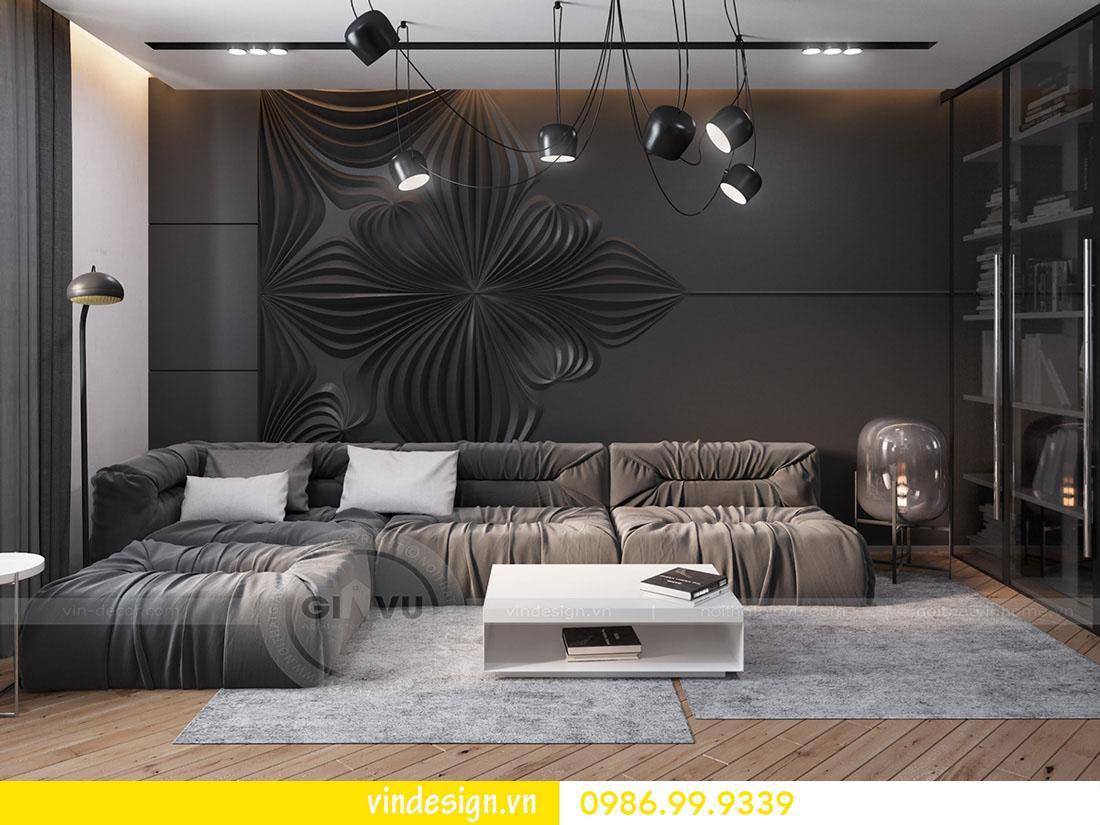 mẫu thiết kế nội thất metropolis căn 3 phòng ngủ 01