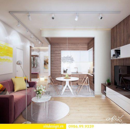 Mẫu thiết kế nội thất Park Hill căn 2 phòng ngủ hiện đại