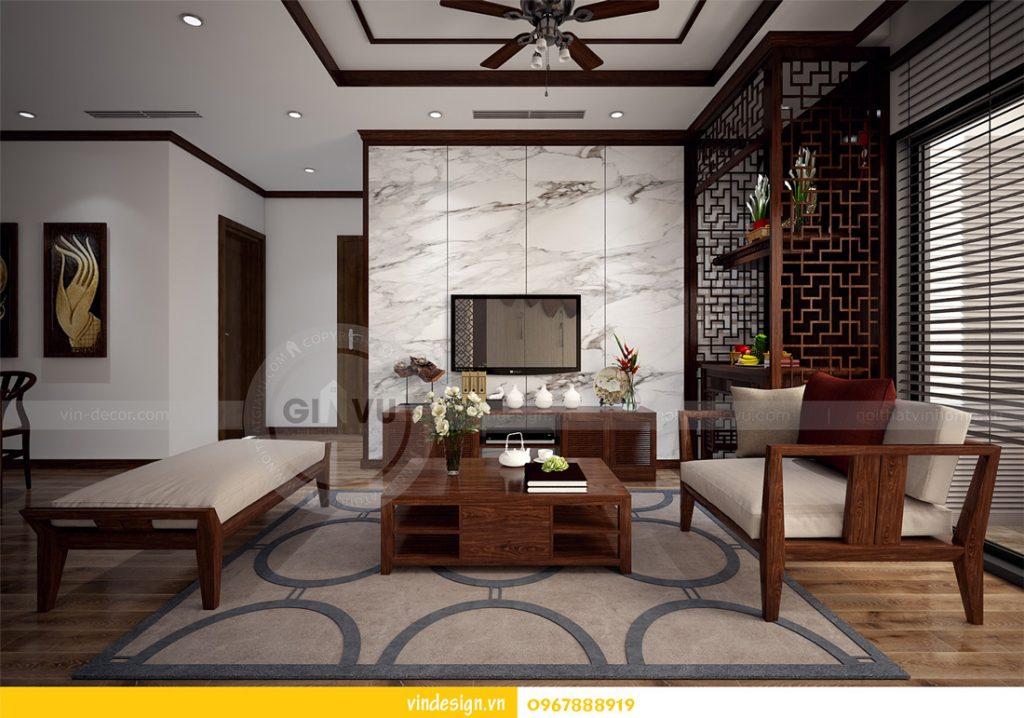 nội thất chung cư gardenia phong cách á đông 05