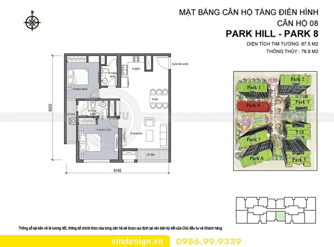 nội thất căn hộ chung cư park hill hotline 0986999339