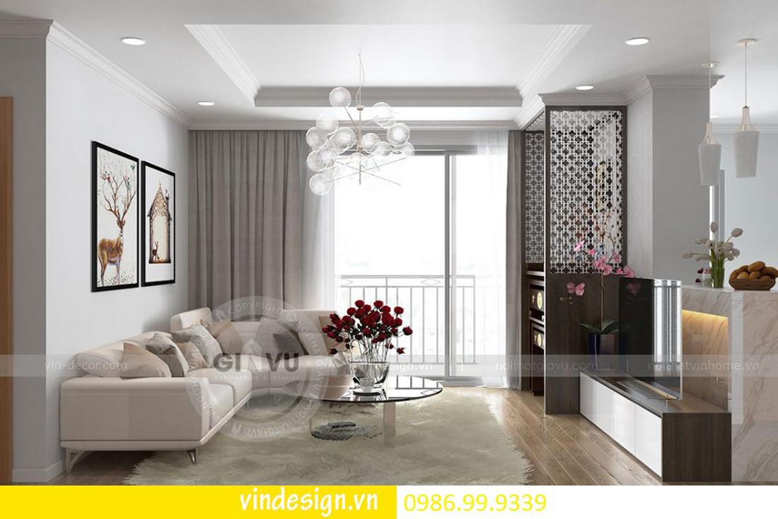 thiết kế nội thất chung cư D Capitale theo phong cách hiện đại 01