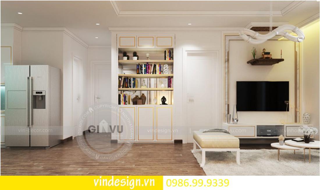 thiết kế nội thất chung cư D Capitale theo phong cách tân cổ điển 03