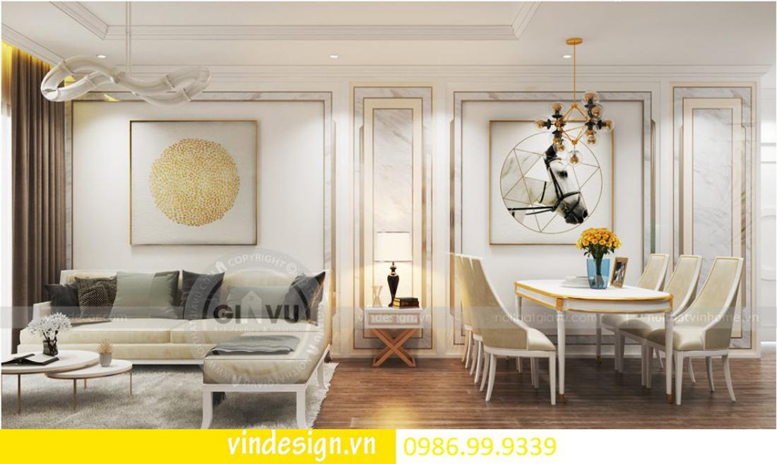thiết kế nội thất chung cư D Capitale theo phong cách tân cổ điển 04