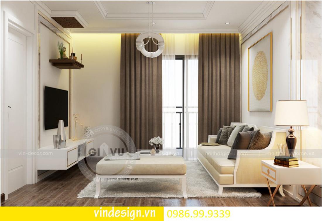 thiết kế nội thất chung cư D Capitale theo phong cách tân cổ điển 05