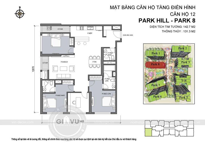 thiết kế nội thất chung cư park hill hotline 0986999339 18
