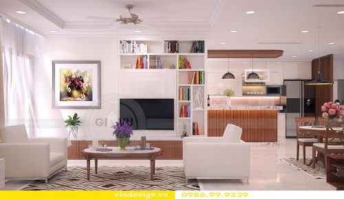 Hoàn thiện nội thất chung cư Vinhomes Gardenia Cầu Diễn