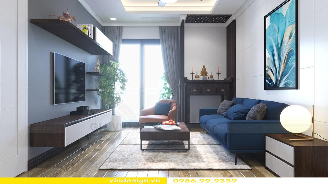 Thiết kế nội thất chung cư Vinhomes Green Bay 1