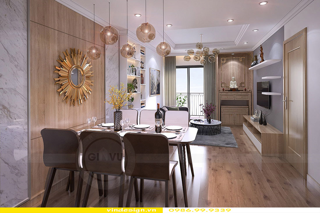 Thiết kế nội thất căn hộ chung cư Green Bay - Call 0986999339 view 2