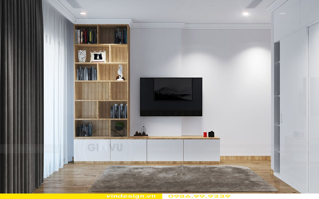 Thiết kế nội thất căn hộ chung cư Green Bay - Call 0986999339 view 7