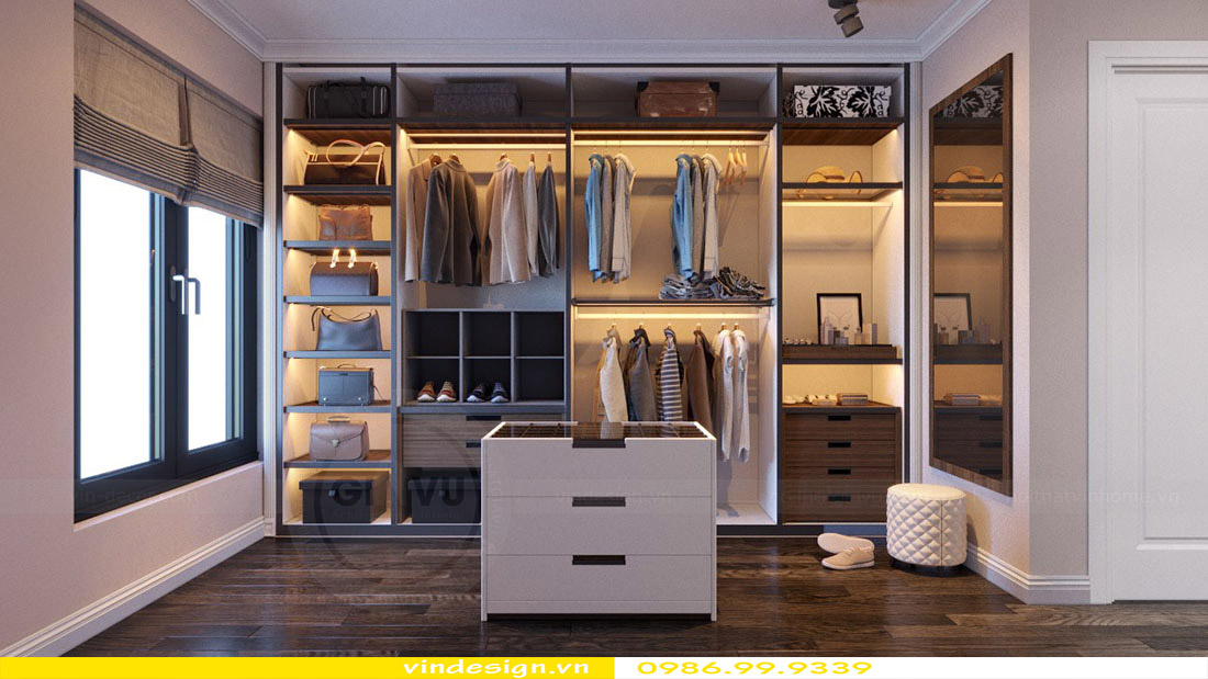 Thiết kế nội thất căn hộ chung cư Vinhomes Green Bay Mễ Trì Hà Nội 10