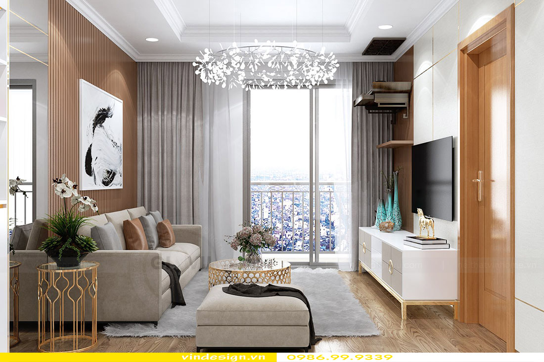 Thiết kế nội thất căn hộ Vinhomes Green Bay - Call 0986999339 view 3