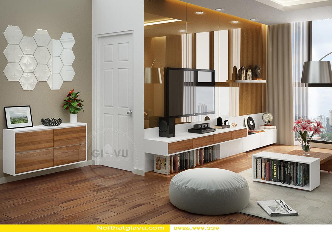 thiết kế nội thất chung cư Gardenia 2 phòng ngủ 02