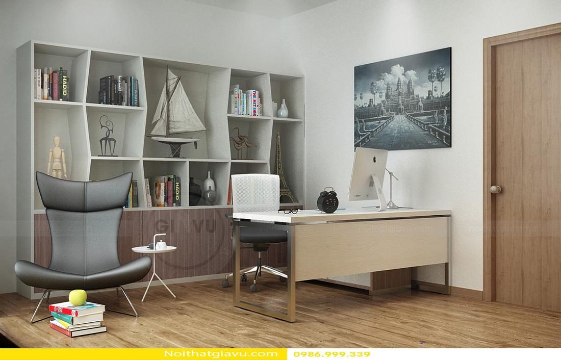 thiết kế nội thất chung cư Gardenia 2 phòng ngủ 04