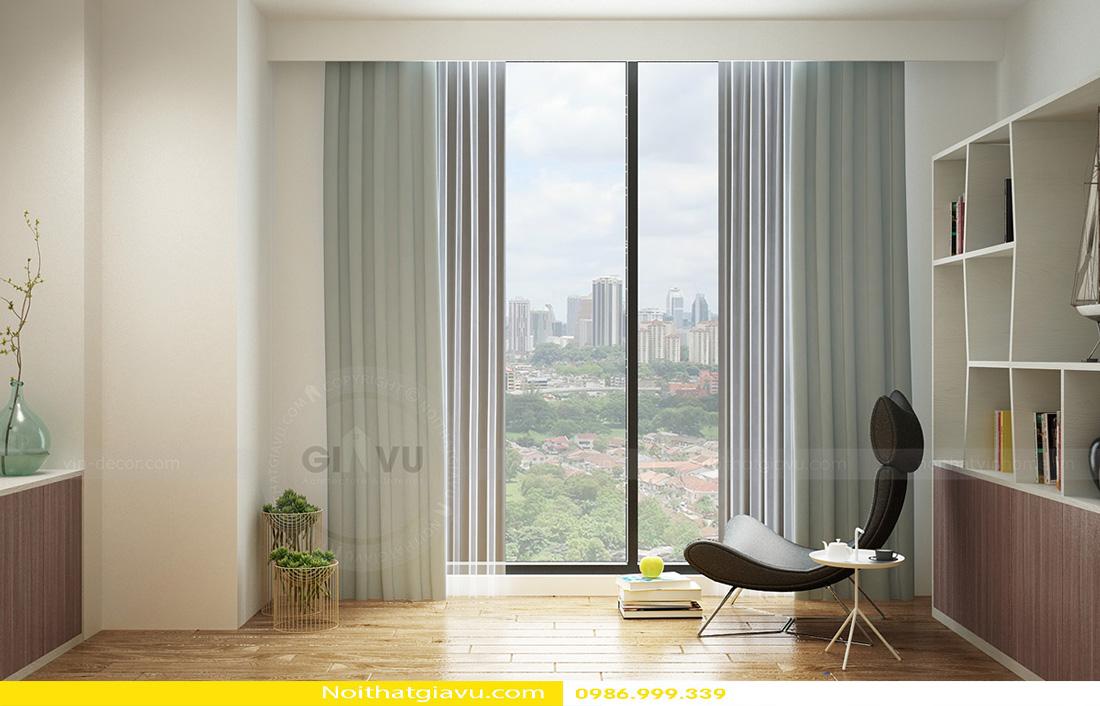 thiết kế nội thất chung cư Gardenia 2 phòng ngủ 05