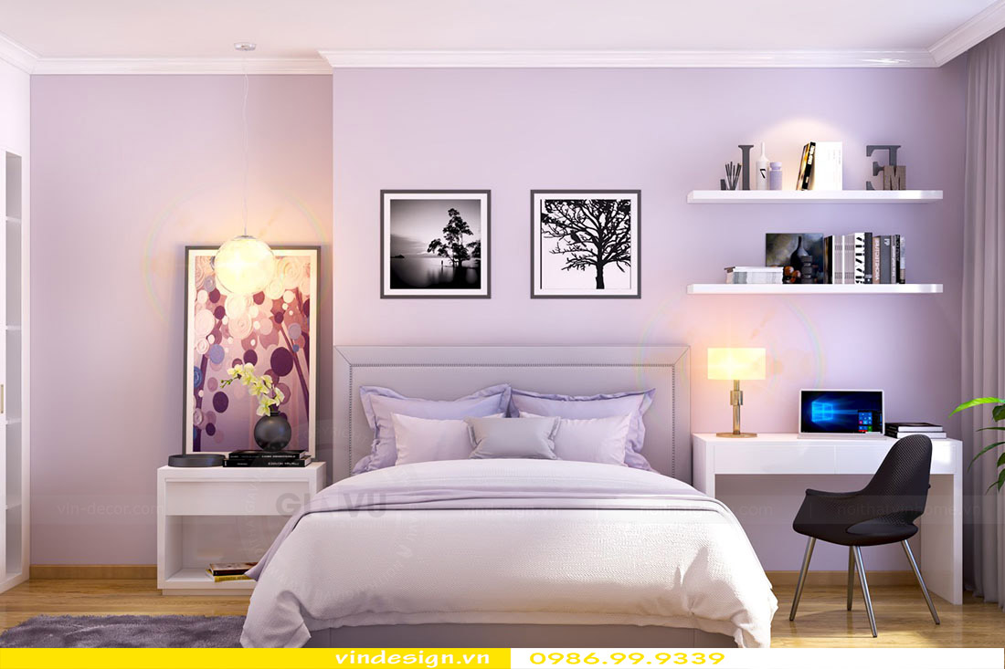 Thiết kế nội thất chung cư Green Bay - Lh 0986999339 view 5
