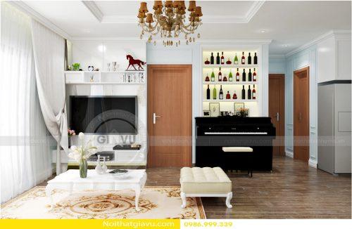 Thiết kế nội thất chung cư với phòng khách độc đáo cá tính