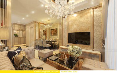 Thiết kế nội thất chung cư phòng khách theo phong thủy