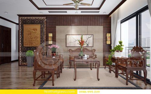 Thiết kế nội thất chung cư Vinhomes Gardenia căn 1 phòng ngủ