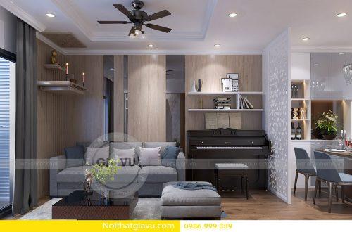 Thiết kế nội thất chung cư Vinhomes Gardenia tòa A3 – Call 0986999339