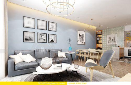 Thiết kế nội thất chung cư Vinhomes Gardenia theo phong cách hiện đại