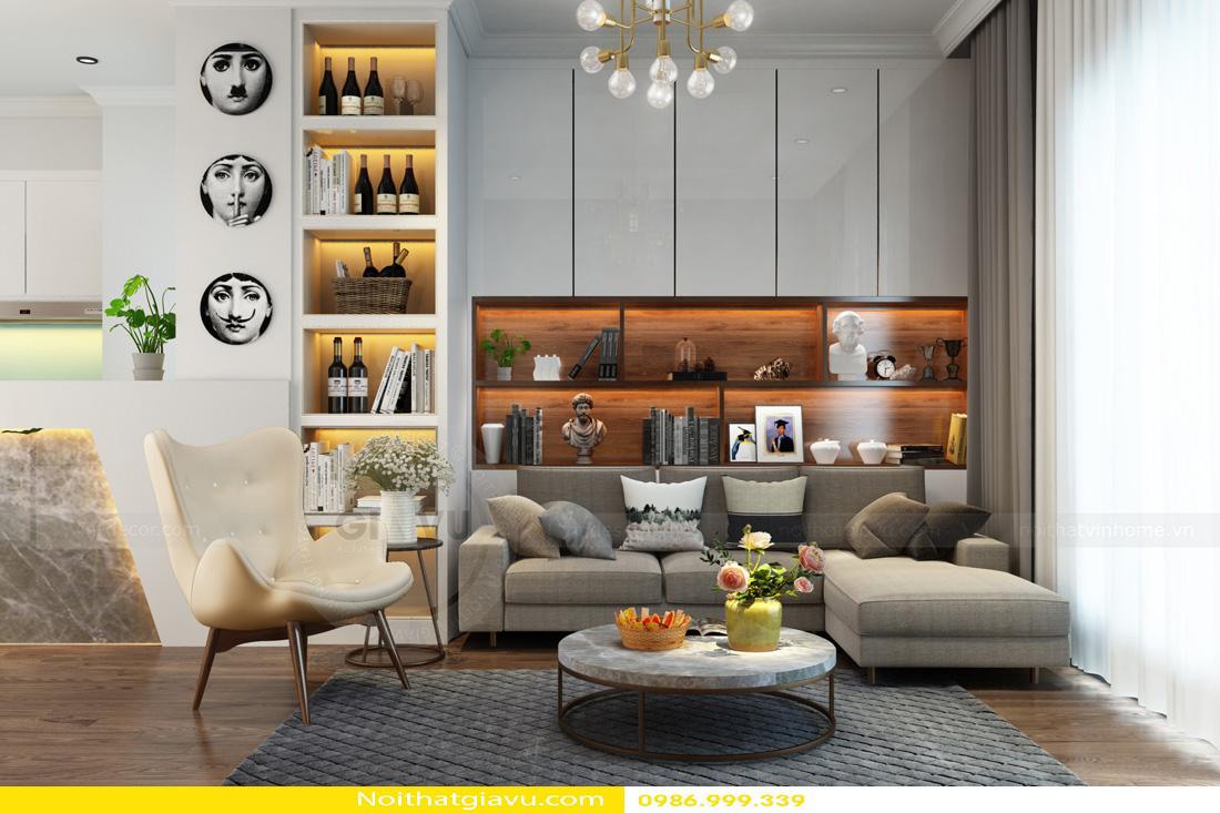 thiết kế nội thất Vinhomes Gardenia 3 phòng ngủ 02