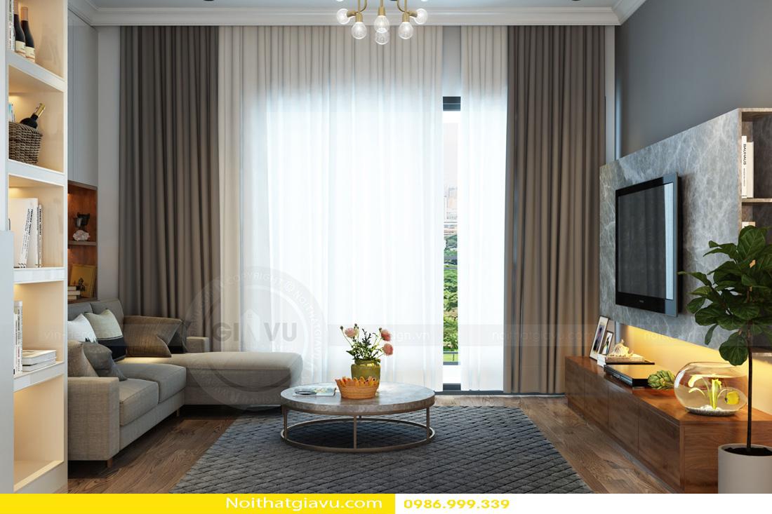 thiết kế nội thất Vinhomes Gardenia 3 phòng ngủ 03