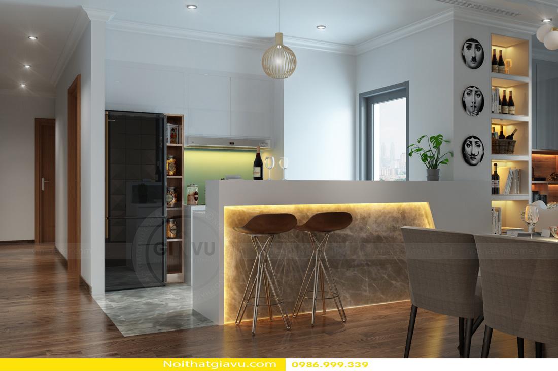 thiết kế nội thất Vinhomes Gardenia 3 phòng ngủ 04