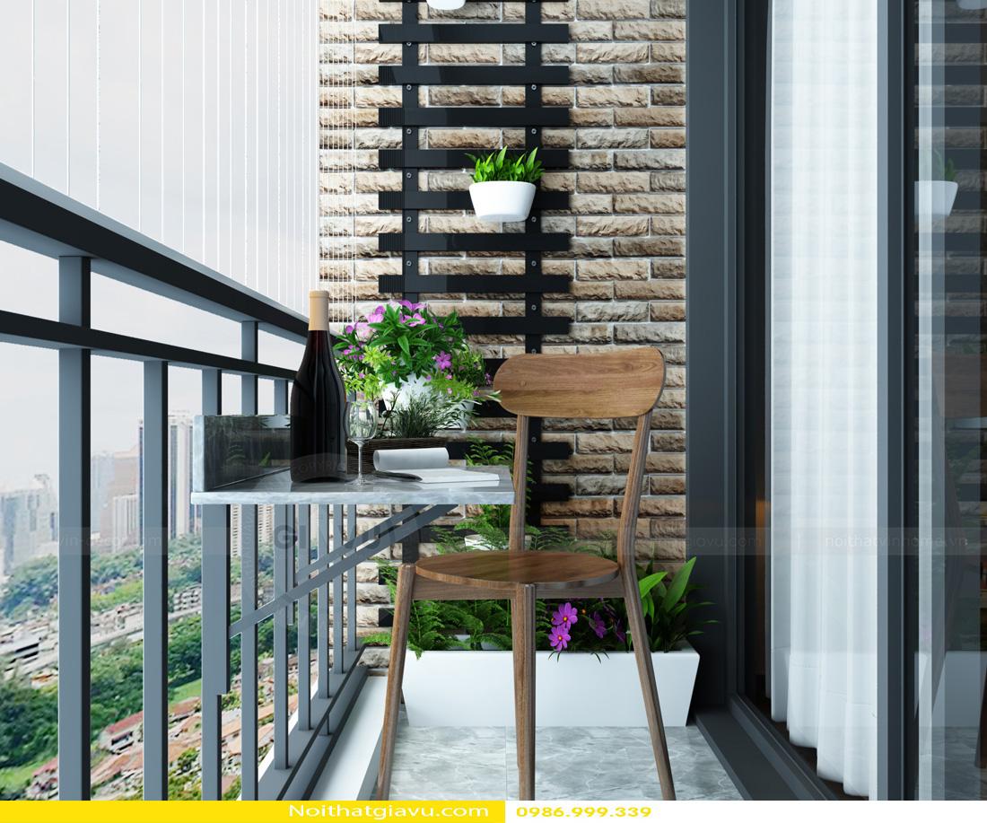 thiết kế nội thất Vinhomes Gardenia 3 phòng ngủ 10