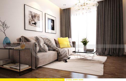 Thiết kế nội thất Vinhomes Gardenia căn 2 phòng ngủ