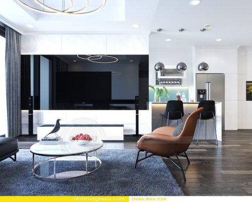 Thiết kế nội thất căn hộ Gardenia mang phong cách hiện đại