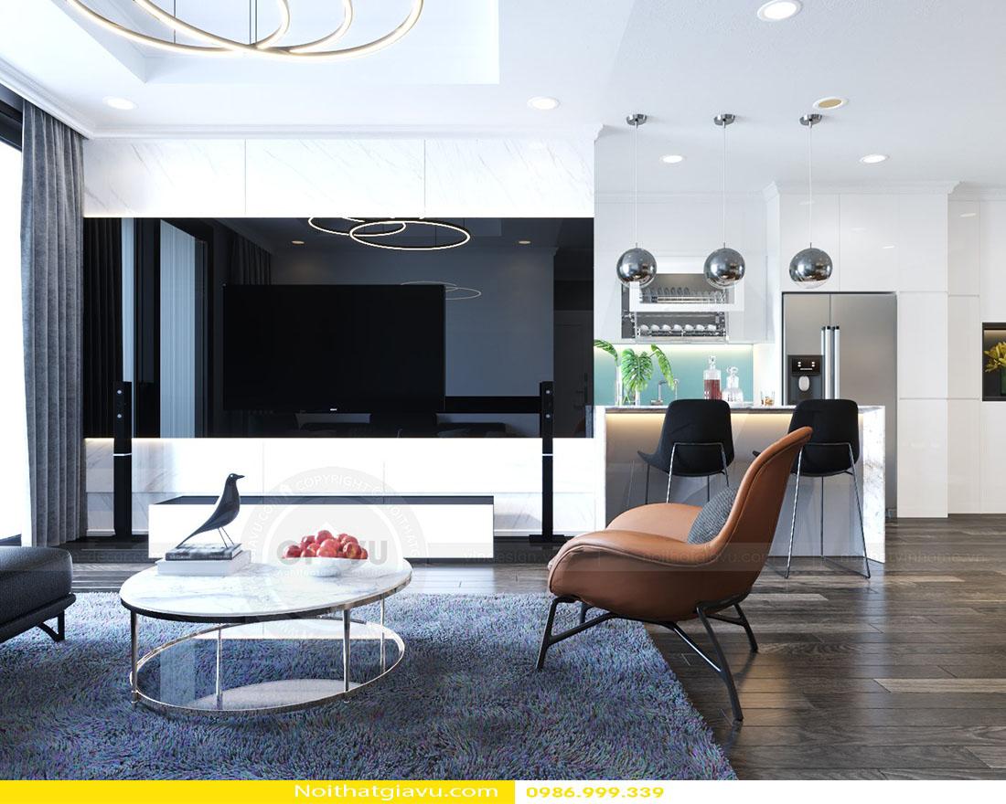 thiết kế nội thất căn hộ Gardenia phong cách hiện đại 02