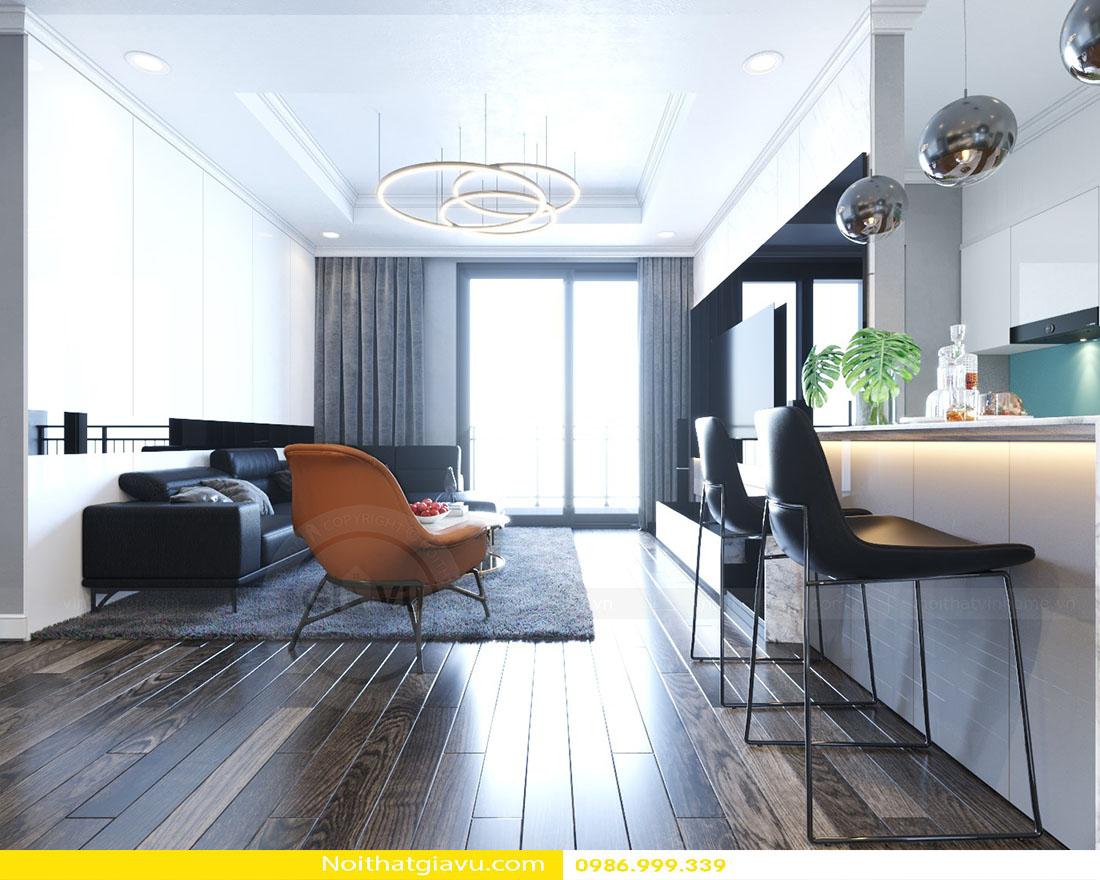 thiết kế nội thất căn hộ Gardenia phong cách hiện đại 03