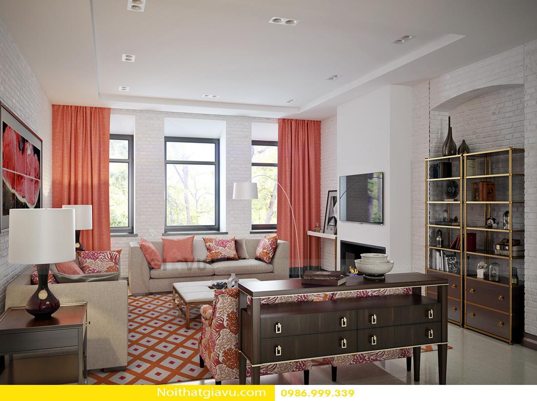 thiết kế nội thất căn hộ gia chủ mệnh hỏa 04