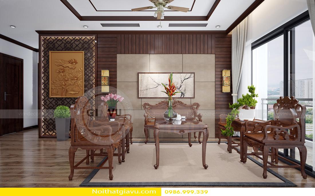thiết kế nội thất căn hộ gia chủ mệnh hỏa 06