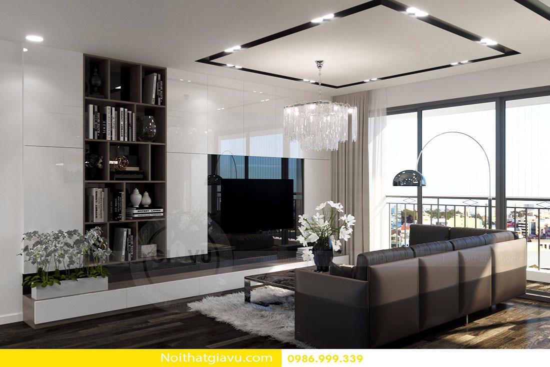 thiết kế nội thất chung cư d'capitale tòa c3 căn 06 003