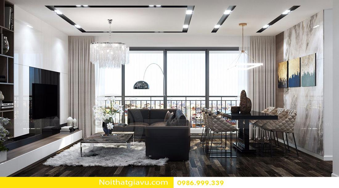 thiết kế nội thất chung cư d'capitale tòa c3 căn 06 004